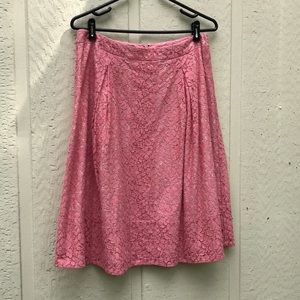 Peach-Pink Lace Talbots A-Line Skirt